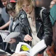 Claudia Eve Beauchesne at the NOWORK table